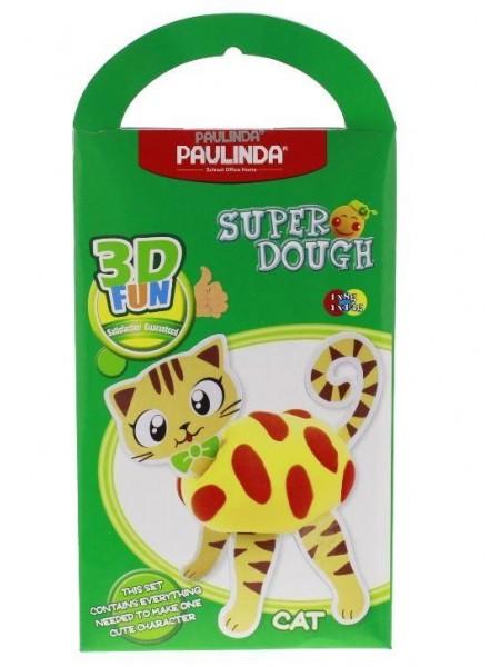 Маса для ліплення Paulinda Super Dough 3D FUN Кіт PL-081284