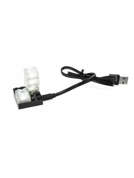 База 4х4 LIGHT STAX в комплекті з 4-ма цеглинками 2х2 Transparent LED LS-S11501