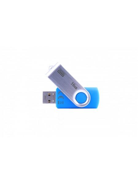Флeш пам'ять USB 2.0 16GB Goodram UTS2 Twister Blue (UTS2-0160B0R11)