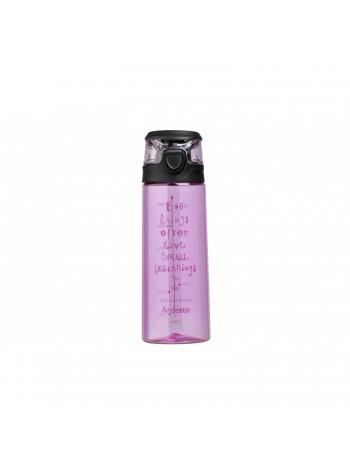 Бутилка для води Ardesto Big things 700 мл, рожева, пластик (AR2206PR)