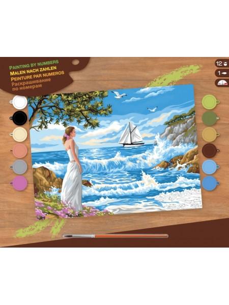 Набір для творчості Sequin Art PAINTING BY NUMBERS SENIOR Тихі береги SA1334