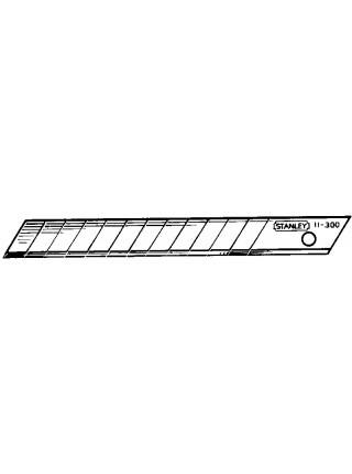 Лезо Stanley, для ножа, 9мм, сегментами, що відламуються, 10шт.