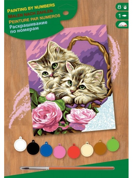 Набір для творчості Sequin Art PAINTING BY NUMBERS JUNIOR Кошенята SA1041
