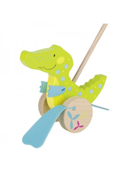 Іграшка-штовхач goki Крокодил 54911G