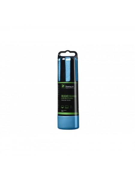 Набір для чищення 2E Liquid for LED / LCD 150ml + серветка, Blue (2E-SK150BL)