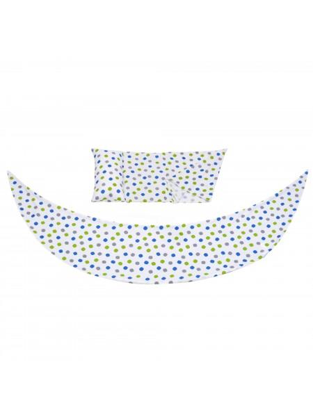 Набір аксесуарів для подушки Nuvita DreamWizard (наволочка, міні-подушка) Білий з крапками NV7101Dot