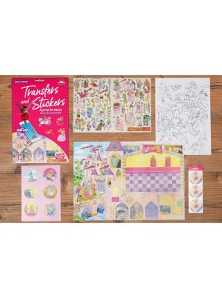 Набір перевідних наклейок Scribble Down з онлайн додатком Казка про принцесу SD/21