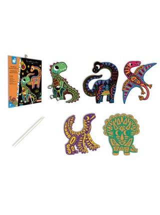 Скрейтч-картки Janod Динозаври J07889