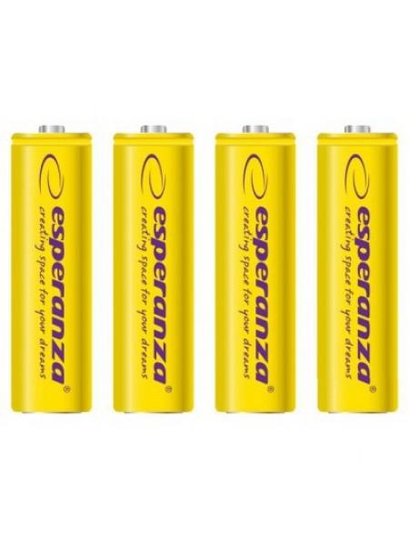 Акумулятор Ni-MH AA 2000 mAh, 4шт, жовтий Esperanza EZA104Y
