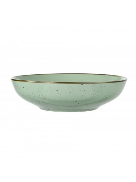 Тарілка супова Ardesto Bagheria, 20 см, Pastel green, кераміка (AR2920GGC)