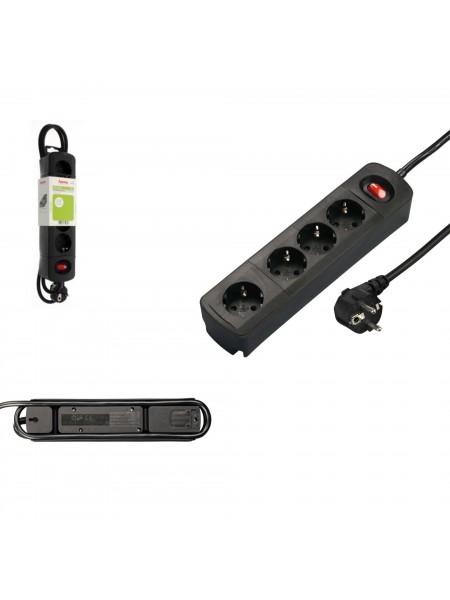 Мережевий подовжувач Hama TIDY-Line 4XSchuko 3G*1.5мм 1.5м Black (00137364)
