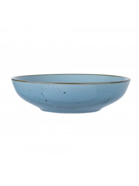Тарілка супова Ardesto Bagheria, 20 см, Misty blue, кераміка (AR2920BGC)