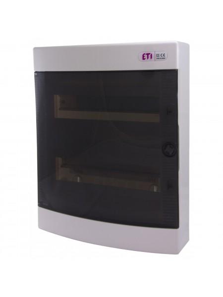 Щит зовнішній розподільний ETI ECT 24PT, 24 модулі прозорі дверцята