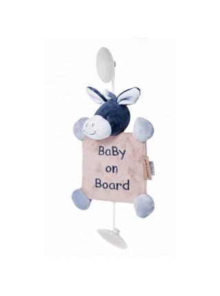 Nattou Іграшка Дитина на борту на присосках ослик Алекс 321341