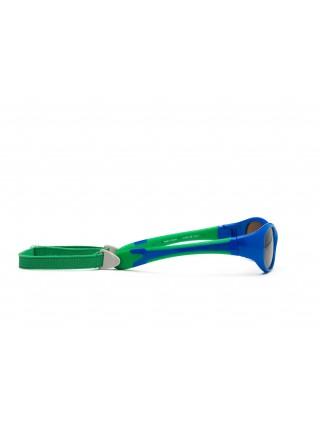 Дитячі сонцезахисні окуляри Koolsun синьо-зелені серії Flex (Розмір: 0+)