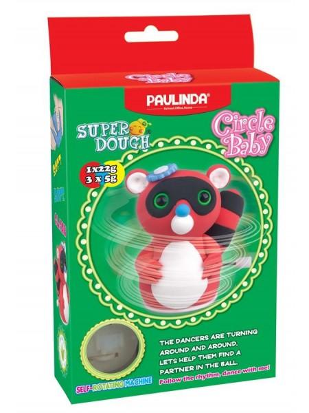 Маса для ліплення Paulinda Super Dough Circle Baby Єнот заводний механізм, червоний PL-081177-1