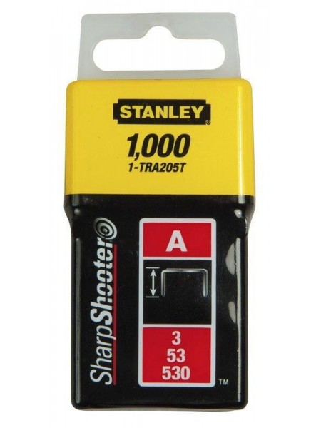 """Скоби Stanley """"Light Duty"""", тип А, 6х11.3мм, 1000шт"""