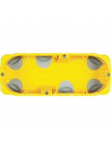 6-модульна (7 для Livinglight) коробка для сухих перегородок. Розміри 183x71x52 мм
