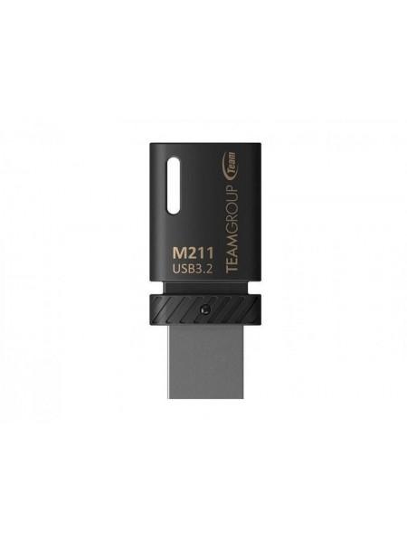 Накопичувач Team 64GB USB-C 3.2 M211 Black