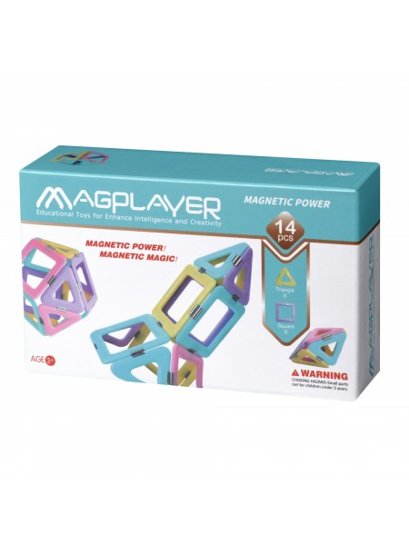 Конструктор Magplayer магнітний набір 14 ел. MPH2-14