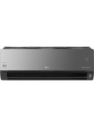 Кондиціонер LG Artcool Mirror AC09BQ, 25 м2, інвертор, A++/A+, до -15°С, R32, Wi-Fi, чорний