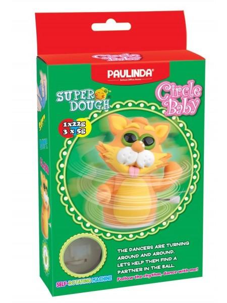 Маса для ліплення Paulinda Super Dough Circle Baby Кіт заводний механізм, помаранчевий PL-081177-4
