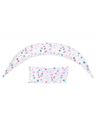 Набір аксесуарів для подушки Nuvita DreamWizard (наволочка, міні-подушка) Білий NV7101White