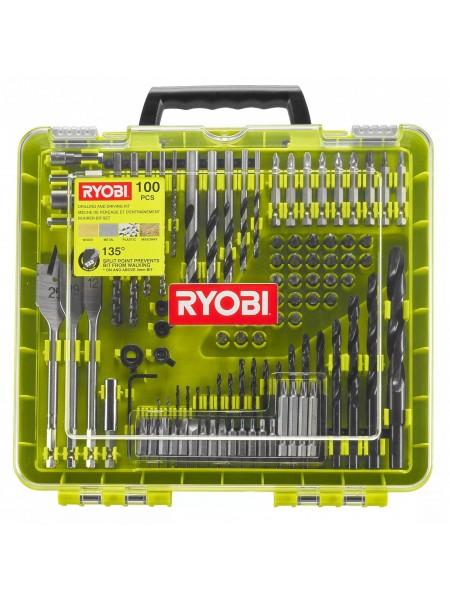 Набір свердел і біт Ryobi RAKDD100, 100 шт