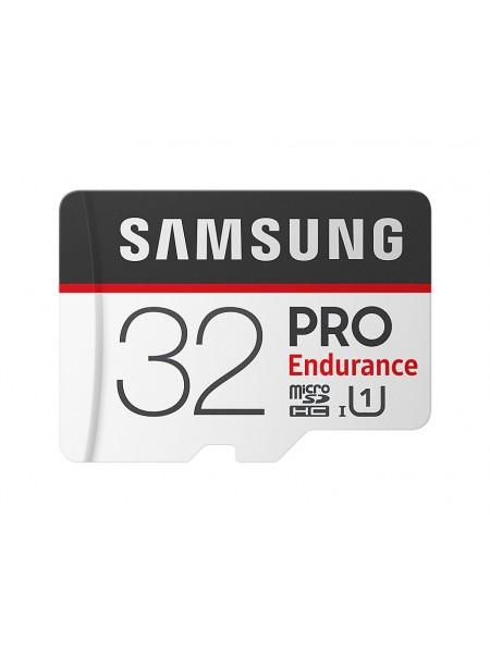 Карта пам'яті Samsung 32GB microSDHC C10 UHS-I R100/W30MB/s PRO Endurance + SD адаптер