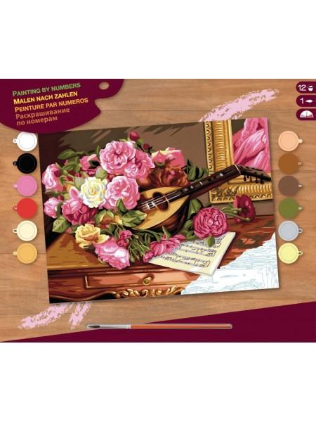 Набір для творчості Sequin Art PAINTING BY NUMBERS SENIOR Романтичний букет SA1037