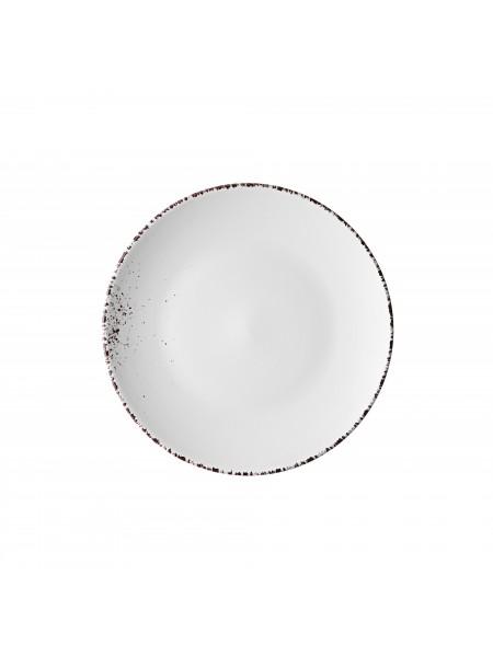 Тарілка десертна Ardesto Lucca, 19 см, Winter white, кераміка (AR2919WMC)