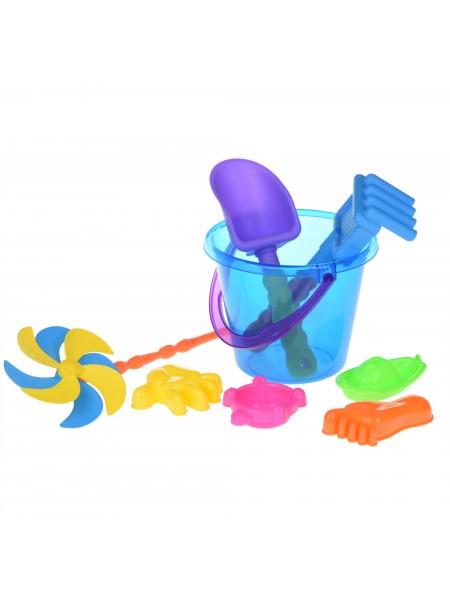 Набір для гри з піском Same Toy з Повітряної вертушой 8 шт (синє відерце) HY-1207WUt-2