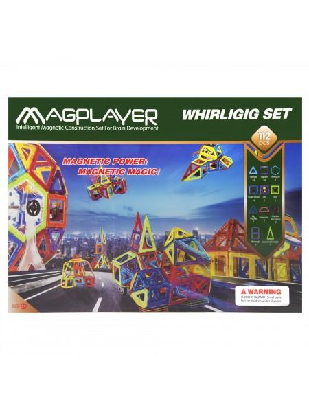 Дитячий конструктор MagPlayer 112 од. (MPB-112)