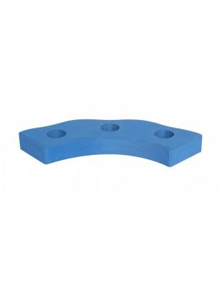 nic Підсвічник святковий дерев'яний напівкруглий синій NIC522873