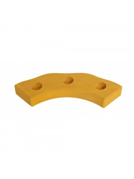 nic Підсвічник святковий дерев'яний напівкруглий жовтий NIC522875