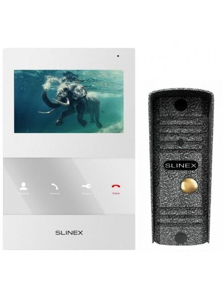 Комплект відеодомофона Slinex SQ-04 білий + Панель виклику Slinex ML-16НR антична