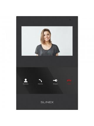 Комплект відеодомофона Slinex SQ-04 чорний + Панель виклику Slinex ML-16HR чорна