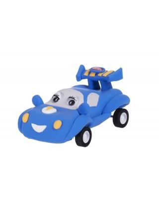 Маса для ліплення Paulinda Super Dough Racing time Машинка синя інерційний механізм PL-081161-1
