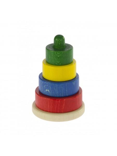 Nic Пірамідка дерев'яна різнобарвна NIC2312