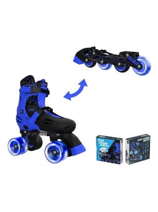 Ролики Neon COMBO SKATES Синій (Розмір 34-38)