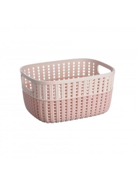 Корзинка плетена Ardesto Sweet Home, 3л, 235*176*120 мм, рожевий, пластик (AR1730BP)