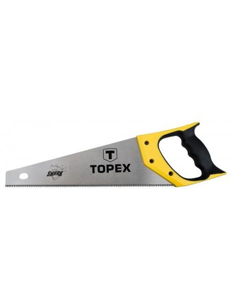 Пила TOPEX по дереву, 400 мм, Shark, 7TPI (10A440)