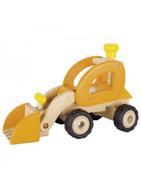 Машинка дерев'яна goki Екскаватор (жовтий) 55962G