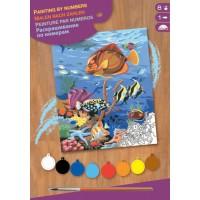 Набір для творчості Sequin Art PAINTING BY NUMBERS JUNIOR Коралові рифи SA0032