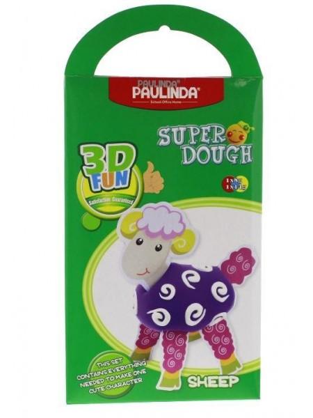 Маса для ліплення Paulinda Super Dough 3D FUN Вівця PL-081288