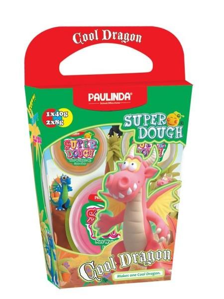 Маса для ліплення Paulinda Super Dough Cool Dragon Дракон рожевий PL-081378-15