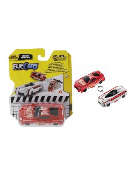 Машинка-трансформер Flip Cars 2 в 1 Спорткар блискавка і Сучасний спорткар