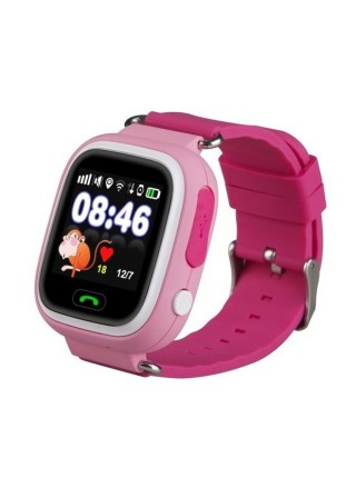 Дитячий телефон-годинник з GPS трекером GOGPS К04 рожевий (K04PK)