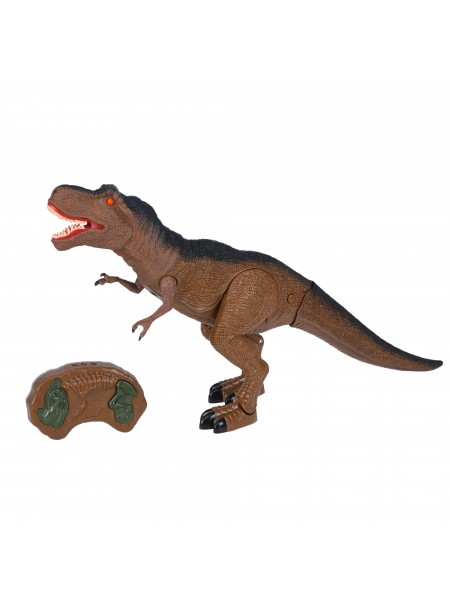 Динозавр Same Toy Dinosaur World Тиранозавр коричневий (світло, звук) RS6123Ut