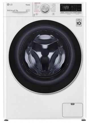 Прально-сушильна машина LG F4V5TG0W, 8кг (5кг), 1400, A, Пара, глибина 56см, Дисплей, Білий